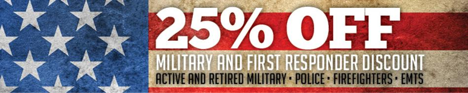 Military and First Responders 25% discount in Englewood, CO Denver, CO